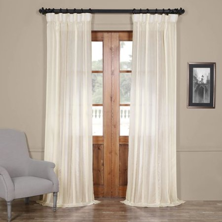 Half Price Drapes Antigua Solid Sheer Rod Pocket Single Curtain Panel