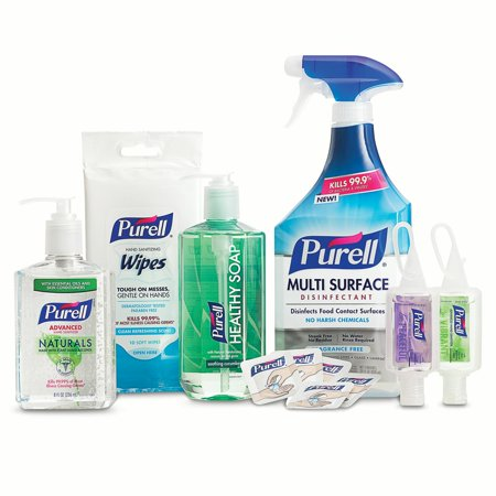 PURELL Home Wellness Collection Variety Pack, PURELL Hand Sanitizer,  Healthy Soap, and Multi Surface Disinfectant Products