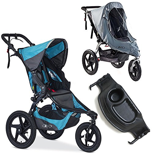 BOB Revolution PRO Stroller with Tray & Weather Shield Bundle (Lagoon)