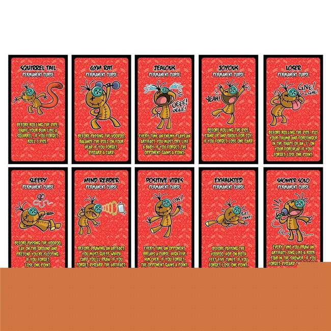 Hasbro MYY4303B Voodoo 10 Permanent Curse Cards by Hasbro