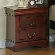 Standard Furniture Lewiston 2 Drawer Nightstand in Deep Brown
