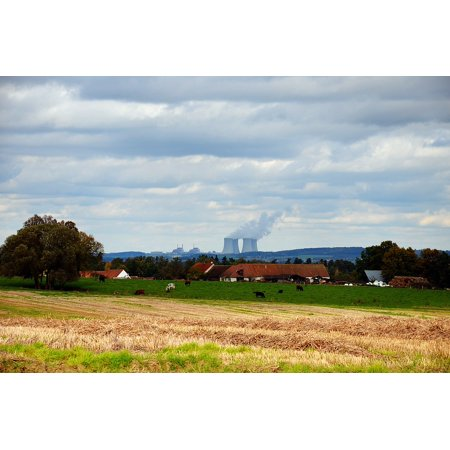 Nuclear Ruby - LAMINATED POSTER Landscape Village Nuclear Power Plant Temelin Poster Print 24 x 36