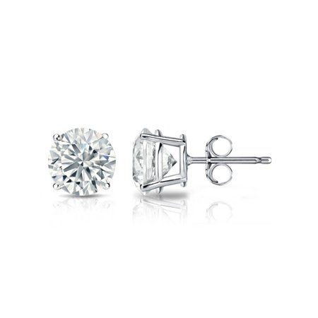 2.00 Ct 925 Sterling Silver Round Cut White Cubic Zirconia Stud Earrings 6MM