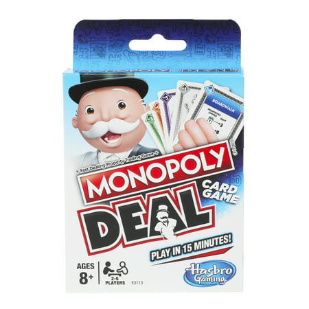 Monopoly Deal Card Game, 2 to 5 Players, for Ages 8 and (Best Three Player Card Games)