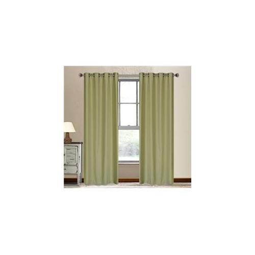 LJ Home Fashions OOO42 Vegas Window Panels In Moss Green, Set Of 2