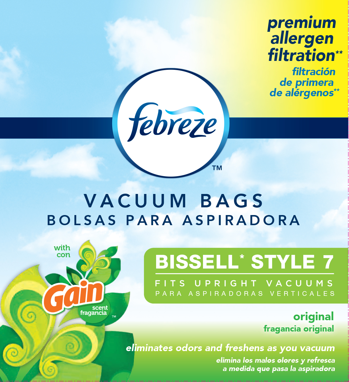 BISSELL Febreze Style 7-Bag with Gain Scent, 3 pk, 17F9G