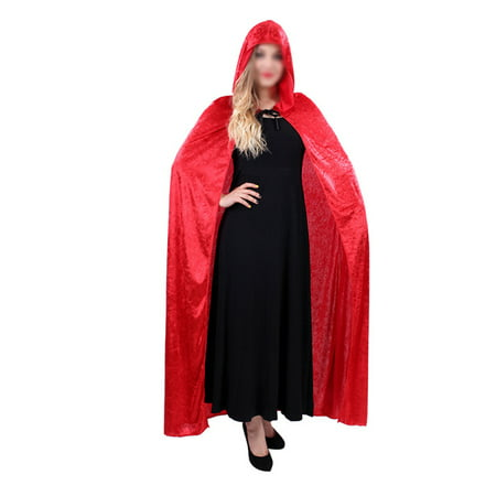 The Masquerade Atlanta Halloween (Halloween Witch Cloak Wizard Hooded Robe Cloak Cosplay Masquerade Costume)