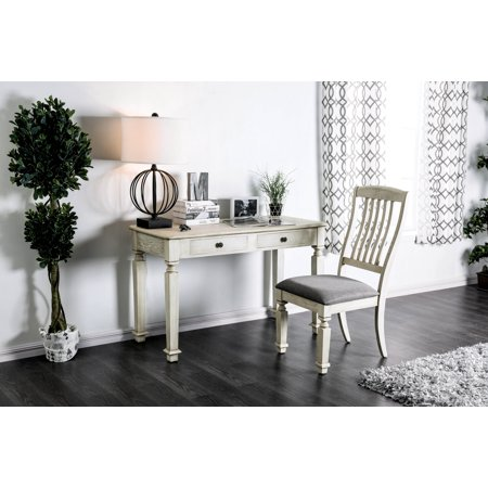 Astonishing Furniture Of America Valene Rustic White Farmhouse Desk And Chair Set Short Links Chair Design For Home Short Linksinfo