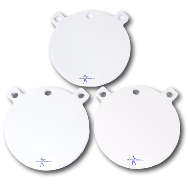 Pack of three AR500 gong targets 8 inch x 3/8""