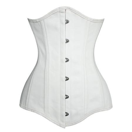 287b47315e Charmian - Charmian Women s 26 Steel Boned Cotton Long Torso Hourglass Body  Shaper Corset - Walmart.com