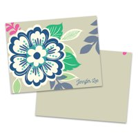 Personalized Big Blooms Folded Note Card