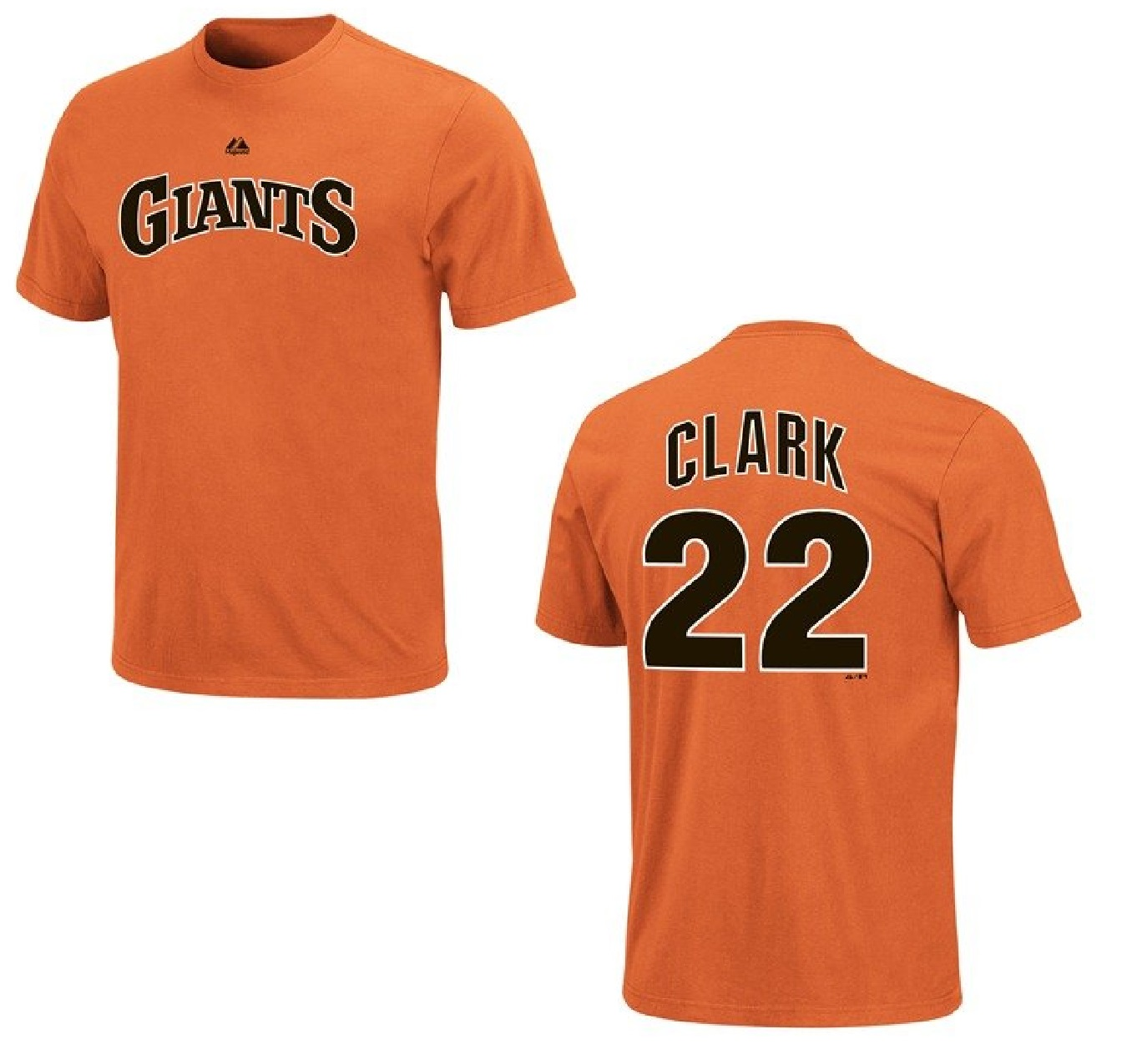 San Francisco Giants Will Clark Name and Number Orange T-Shirt (M)