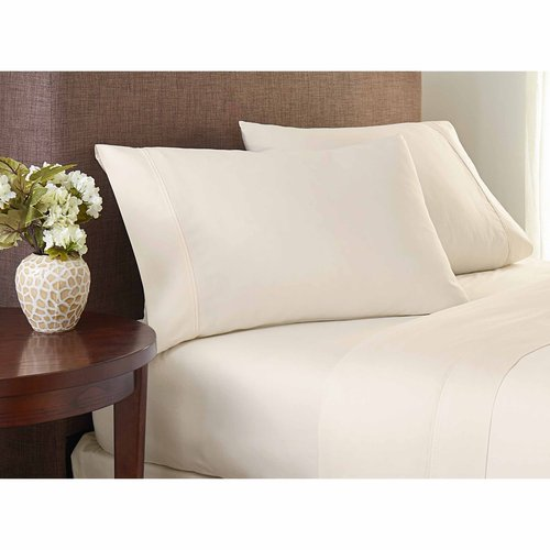 Crowning Touch Cotton Naturals Solid Sheet Set