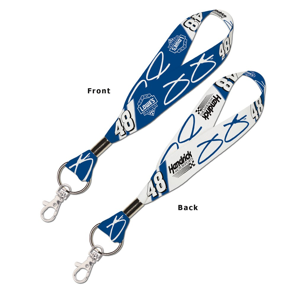 Jimmie Johnson Official NASCAR 8 inch  Lanyard Key Chain Keychain by Wincraft