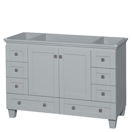 Wyndham Collection Acclaim 48u0022 Single Bathroom Vanity, Oyster Grey, No Countertop, No Sink, and No Mirror