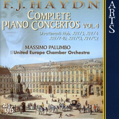 Includes div(s) for hpsch and str, h 14 by Franz Joseph Haydn.  Ensemble: European Union Chamber Orchestra.  Conductor: Massimo Palumbo.  Soloists: Massimo Palumbo, Suela Mullaj.