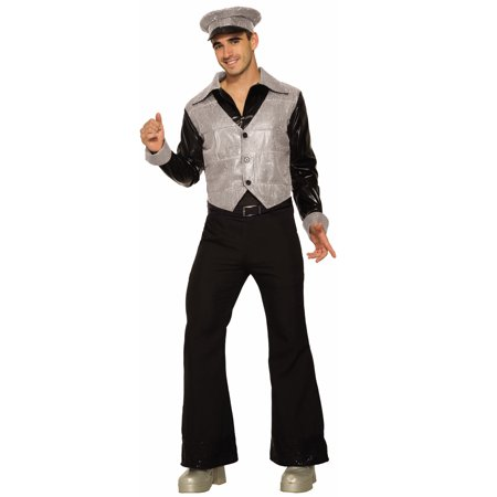 Silver Fox Mens Adult 80S Dancer Disco Dude Halloween Costume-Std - 80s Attire Male