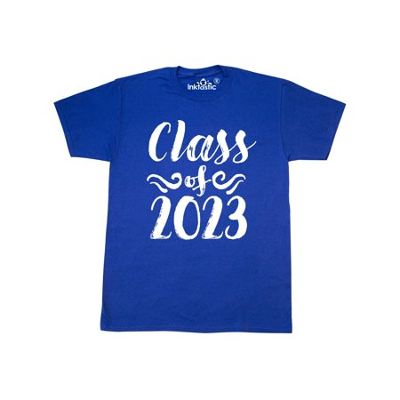 Class of 2023- graduation brushstroke text in white T-Shirt