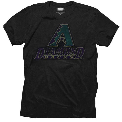 Majestic Threads Arizona Diamondbacks Cooperstown Collection Tri-Blend T-Shirt - Black