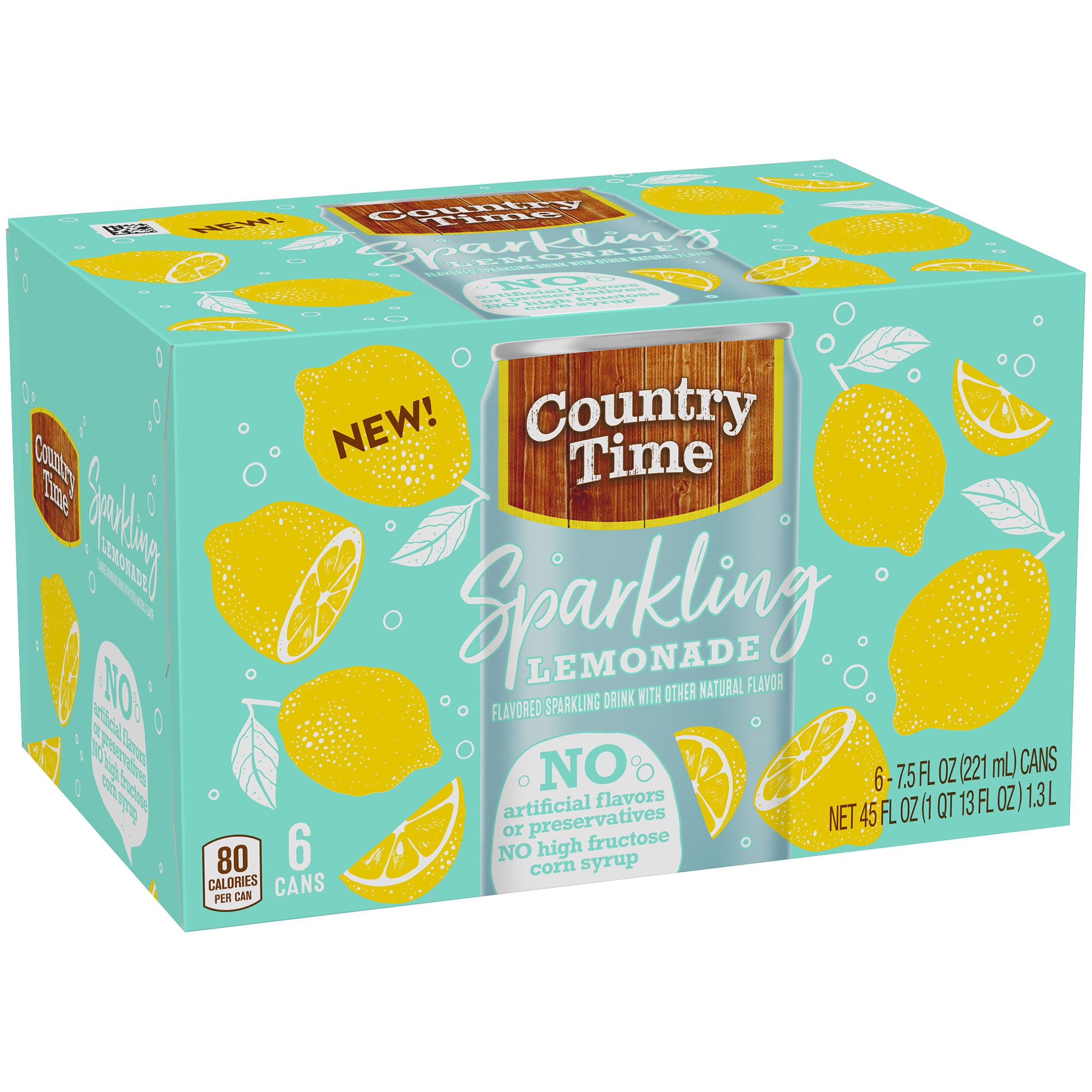 Country Time Sparkling Lemonade Flavored Sparkling Drink 6-7.5 fl ...