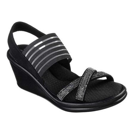 Shop Skechers Cali Women's Rumblers Studette Wedge Sandal