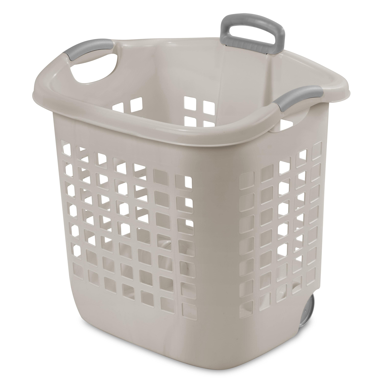 Sterilite Wheeled Basket Grey Pumice