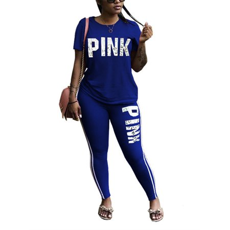 Skirted Legging Set (Women 2 Pieces Sport Set Print Tops & Legging Pants)