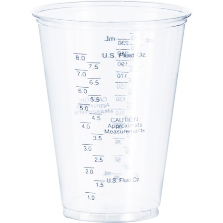 - Solo, SCCTP10DGM, Tall PET Graduated Medical Cups, 1000 / Carton, Clear