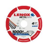 Lenox MetalMax 4-1/2 in. Dia. x 7/8 in. Diamond/Metal Metal Cut-Off Blade 1 pc.