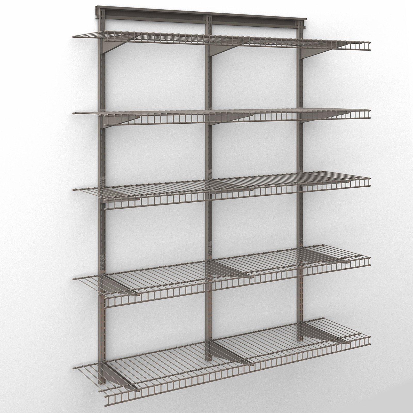 closetmaid shelftrack 4 ft wire shelf kit walmart com