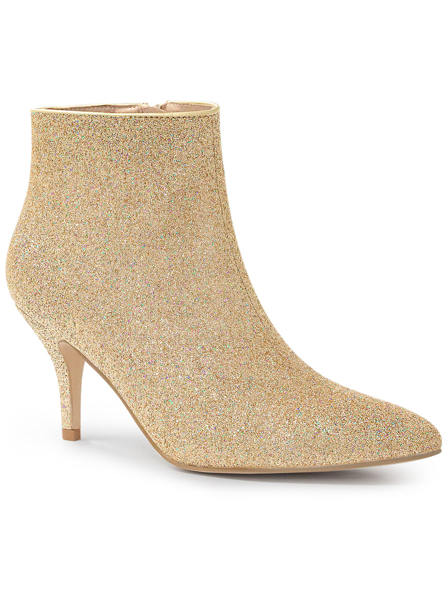 Details about  /Women Stilettos High Heel Summer Ankle Boots Glitter Zip Pointed Toe Party Shoes