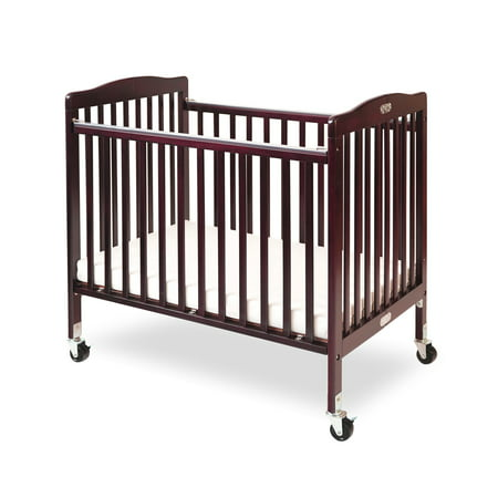 L A Baby Little Wooden Mini Portable Crib With Mattress