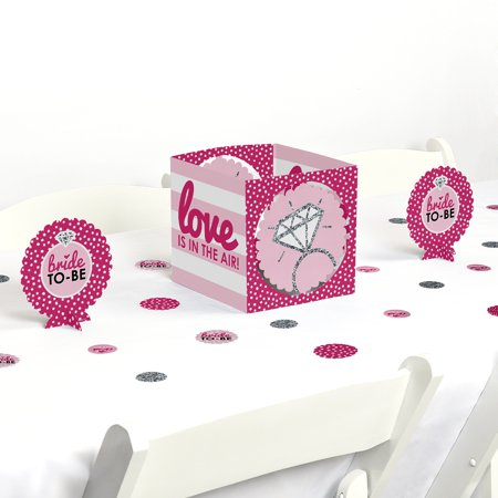 Bride-To-Be - Bridal Shower & Classy Bachelorette Party Centerpiece & Table Decoration - Classy Bachelorette Party Decorations
