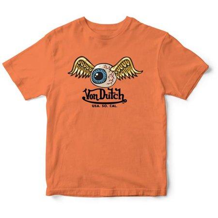Von Dutch Men's Logo Design Short Sleeve T-Shirt Logos Sleeve Tee T-shirt
