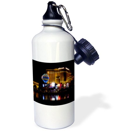 3dRose Planet Hollywood in Las Vegas NV, Sports Water Bottle, 21oz