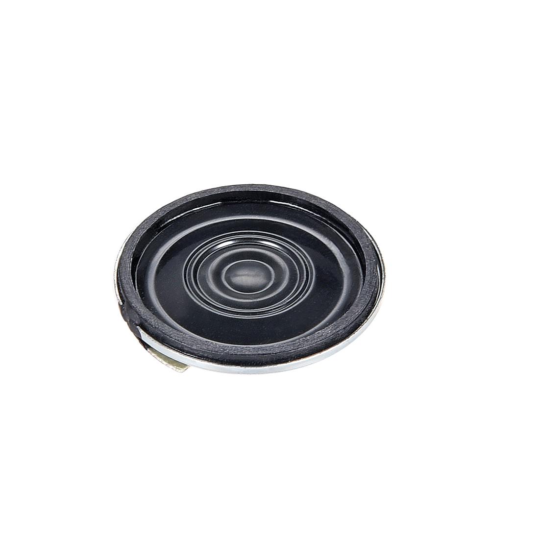 1W 8 Ohm Speaker 26mm Round Shape Loudspeaker for DIY Audio Speakers 4pcs - image 2 de 3