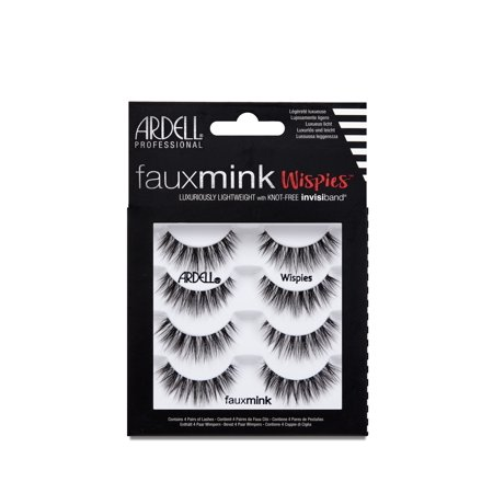 Ardell Faux Mink False Eyelashes, WiSalon Perfectie, 4 Pack