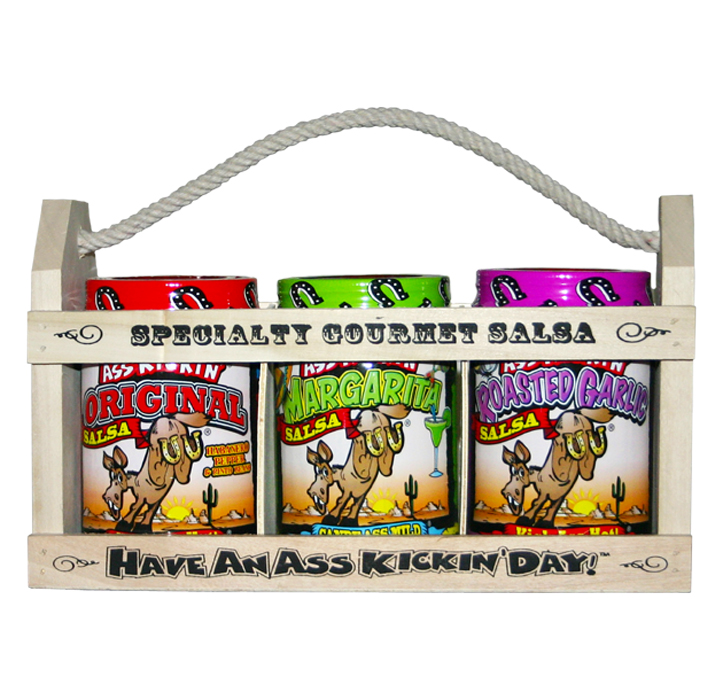 Ass Kickin' Specialty Gourmet Salsa, 3pc Variety Gift Set by Southwest Specialty Food Inc
