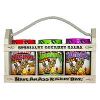 Ass Kickin' Specialty Gourmet Salsa, 3pc Variety Gift Set