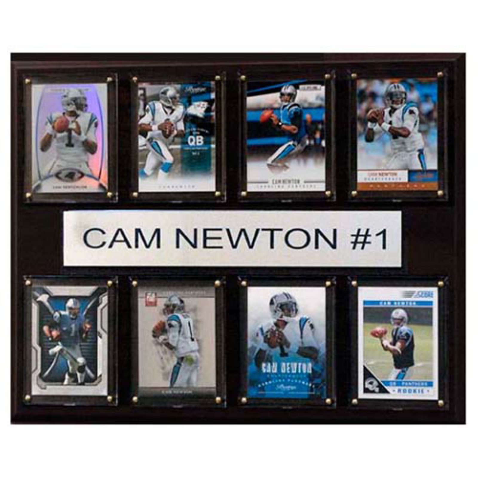 C and I Collectables NFL 15W x 12H in. Cam Newton Carolina Panthers 8 Card Plaque