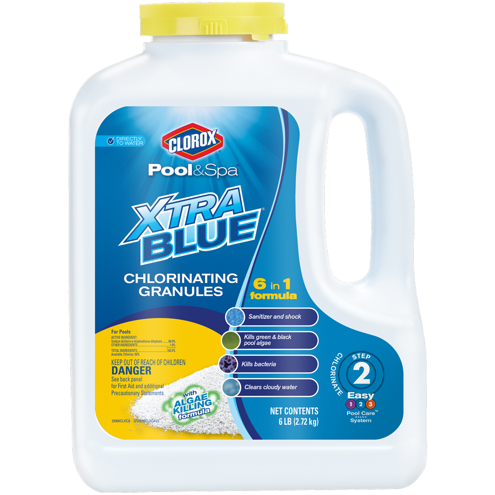 Clorox Pool and Spa Xtra Blue All-In-1 Chlorinating Granules, 6 lbs