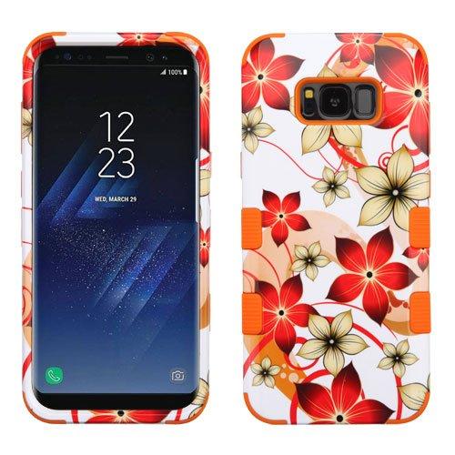 Samsung Galaxy S8+, S8 Plus Case - Wydan Tuff Hybrid Hard Shockproof Case Protective Cover Autumn Flower