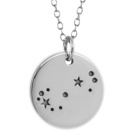 Sterling Silver Scorpio Zodiac Horoscope Constellation Pendant Necklace  18   Chain
