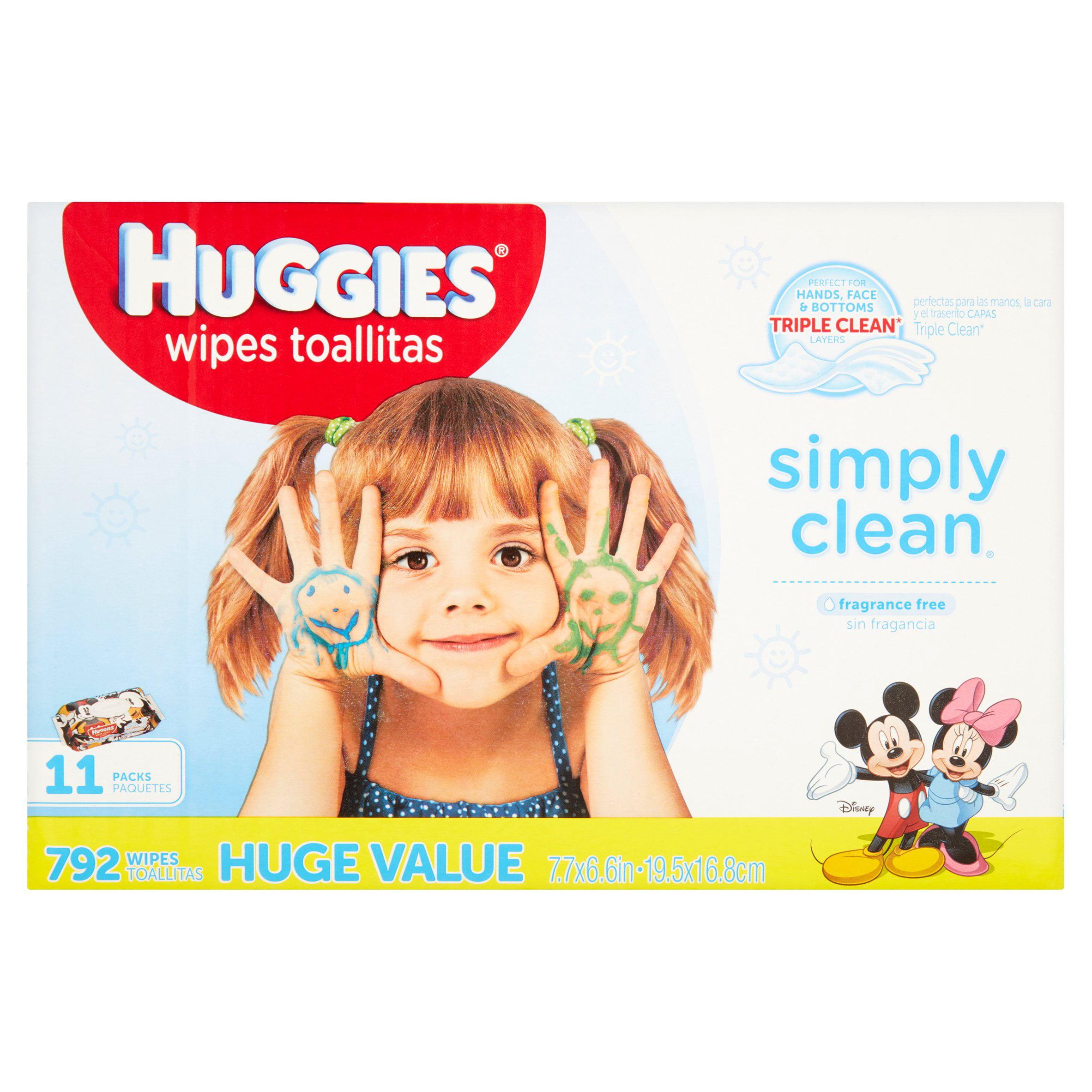 Huggies Wipes Simply Clean Baby Wipes - 704ct
