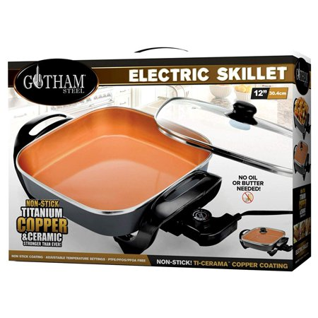 Ply Stainless Steel Electric Skillet - Gotham Steel XL 12