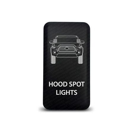 CH4x4 Toyota Push Switch Tacoma 3rd Gen Hood Spot Lights Symbol - White LED (Gen Hood)