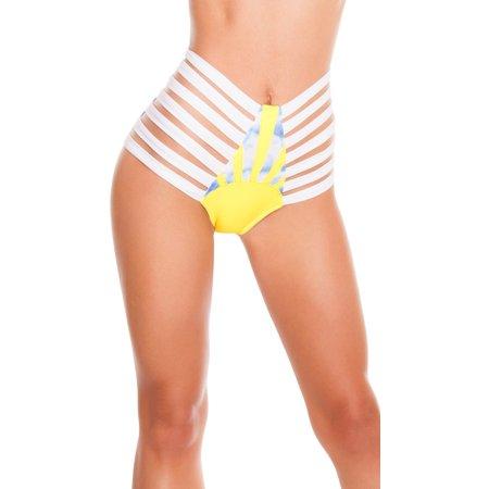 Sunny Day Strappy High-waist Short, Strappy Dance Shorts