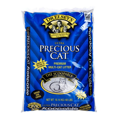 Precious Cat Ultra Premium Clumping Cat Litter, 40 Pound