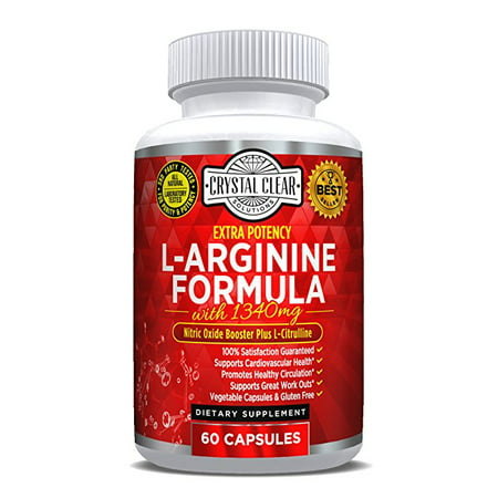 L-Arginine Supplement Plus L- Citrulline, Best for Nitric Oxide Boost with Essential Amino Acids to Promote Cardiovascular Health & Athletic Performance, No Blast, 60