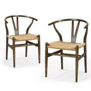 Adeco Trading Wishbone Side Chair (Set of 2)